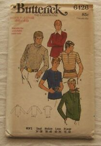 Vintage Shirt Sewing Pattern*Butterick 6426* Chest Sizes 46-48 XL*Retro Mens*70s