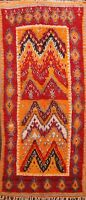 Vegetable Dye Hand-knotted Authentic Moroccan Berber Oriental Runner Rug 4'x10'