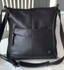 the SAK Iris Dark Brown Leather Crossbody Messenger Shoulder Handbag Purse Med.