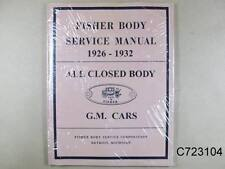 1926 1931 Pontiac Fisher Body Service Manual Closed Body only, C723104