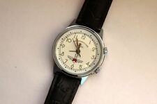 POLJOT Shturmanskie SIGNAL ALARM 18 jewels USSR Vintage Mechanical Wristwatch