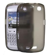 Custodia COVER IN SILICONE Blackberry 9360 Trasparente Nero Custodia Protettiva Cover Silicone Skin