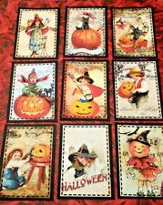 Vintage Halloween~9 Pocket Cards~No Protector~Scrapbooking~Card Craft Making