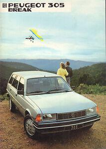 AUTOFOLDER / BROCHURE PEUGEOT 305 BREAK 1984