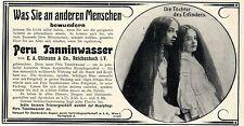 Perú tanninwasser para cabello sano...... anuncio de 1908
