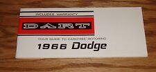 1966 Dodge Dart Owners Operators Manual 66