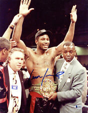 LENNOX LEWIS SIGNED 11x14 PHOTO LEGENDARY BOXING HEAVYWEIGHT CHAMP BECKETT BAS