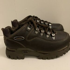 New Never Worn 90's Vintage Skechers Jammers Platform Chunky Shoes Brown Sz 8