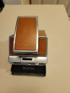 POLAROID SX-70  Brown Leather Camera