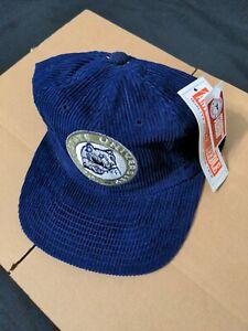 Vtg NOS Penn State Nittany Lions Corduroy PSU Snapback Hat ANNCO NWT