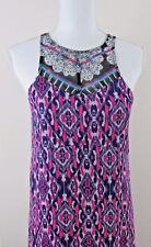 Express Women's Maxi Dress Pink Multi-Color Sleeveless X Small TP