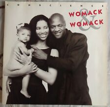 "WOMACK & WOMACK,CONSCIENCE,VINTAGE 1988,12"" LP 33 VYNIL.EXCELLENT CONDITION"