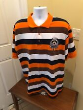 Red Ape denim company - Mens 3XL Striped Polo Shirt orange / blue XXXL
