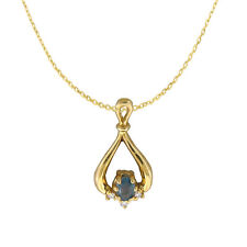 Natural Alexandrite Color Change Dia 14K YG Necklace Pendant With Certificate