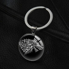 House Stark Keyrings Game of Thrones Keychains Silver Pendant Key Ring wholesale