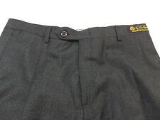 $195 Nwt Daniel Cremieux Signature Collection Loro Piana Gray Pleated Pants 32