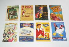 Lot de 8 Carte Postale Reproduction Affiche Publicitaire Ancienne Pub c