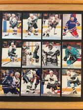 1996/97 Pinnacle Premium Stock San Jose Sharks Team Set 12 Cards