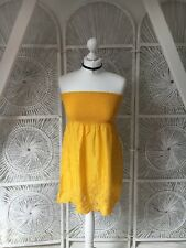 New Look Sunflower Yellow Bandeau Top Embroidered Fair Trade SEWA 8 10 Boho