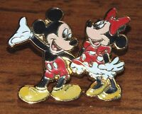 Disney Mickey & Minnie Mouse Small Today 2007 Collectible Trading Pin / Brooch!