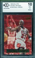 1995-96 Ultra Double Trouble #3 Michael Jordan Card BGS BCCG 10 Mint+