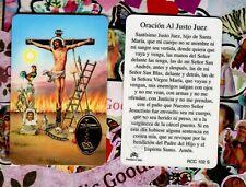 Oracion Al Justo Juez - Spanish - Plastic stock Holy Card