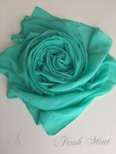 Chiffon Scarf Hijab High Quality  Elegant Sarong Shawl Wrap Plain Maxi