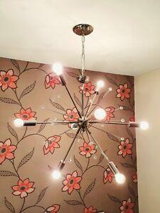 John Lewis Dar Sputnik 8 Way Large Ceiling Pendant Light Modern Lighting Chrome