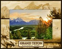 Yellowstone National Park With Geyser Laser Engraved Wood Picture Frame 5 X 7 For Sale Online