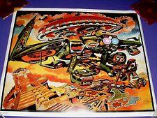 "Incan Visitation Print (1992) 18"" x 22"" by Marvel & DC Comics Artist Jack Kirby"