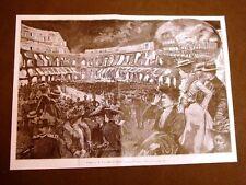 Roma Il Colosseo in fiamme Disegno di Dante Paolocci