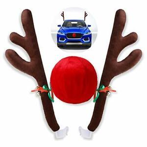 Christmas Car Reindeer Antler DecorationsVehicle Xmas Decorations Auto Decora...