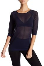 WOLFORD LOUIE  PULLOVER  / TOP Navy   SIZE Large   NEW BOXED