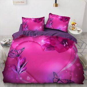 3D Bedding Set 3PCS Duvet Cover Set Comforter/Quilt Pillow Case Flowers Textile