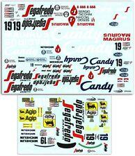 1/10 TG184 Ayrton Senna Toleman TG184 Decal Sticker for Tamiya F103 F104w