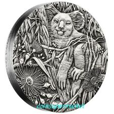Australia 2017 Koala $2 2 Oz Pure Silver High Relief Antique Antiqued Proof Coin
