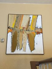 Original Abstract Mixed Media Oil Painting Signed by Artist S. Cohen