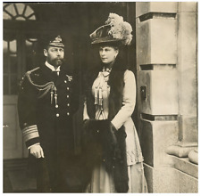 King George V and Mary of Teck Vintage silver print Tirage argentique  15x16