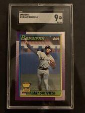 New listing 1990 Topps GARY SHEFFIELD #718 SGC 9