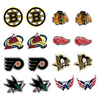 post stud earring charm NHL PICK YOUR TEAM
