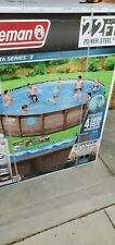 Coleman Power Steel 22' x 52' Frame Swimming Pool Set In Hand