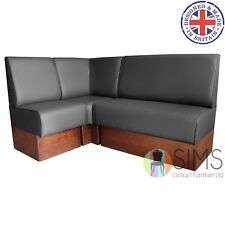 More details for modular plain back banquette fitted bench booth seating - salon, barbers, pub