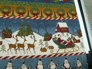 100% cotton Fabric - Vintage Christmas Stripe  Fabric