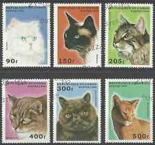 Timbres Chats Congo 1022A/F o lot 8188