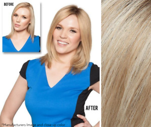 """Imperfect Jon Renau Top Form 12"""" Topper - 100% Human Hair - Color FS17/101S18"""