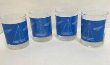 Blueprint Sailboat Highball Drink Glasses Set of 4