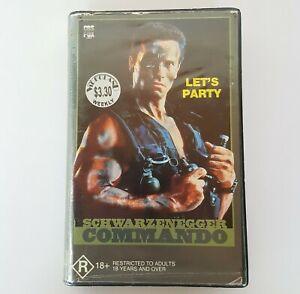 SCHWARZENEGGER COMMANDO 1985 VHS Pal CBS Fox Video Tape Clamshell Ex-Rental