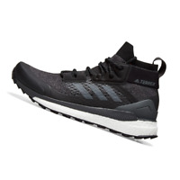 ADIDAS MENS Shoes Terrex Free Hiker - Core Black, Grey & Orange - D97203
