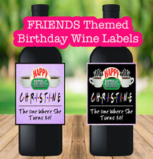 Central Perk Birthday Wine Labels The One Where She Turns 21 25 30 40 50 Friends