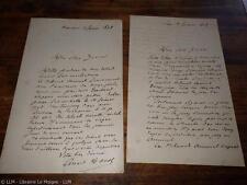 1868.Lettre  autographe à   Zaccone (x2.révolution Robespierre).Ernest Hamel